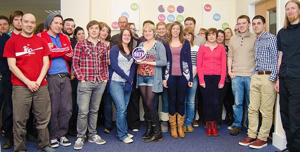 The Glasgow Twig team with their BETT award