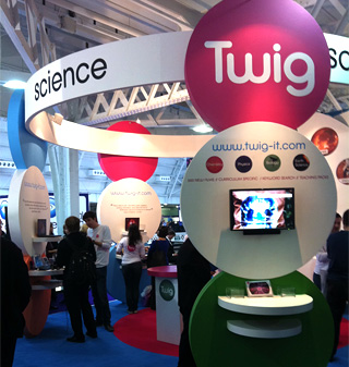 Photograph of Twig's stand at the BETT Show