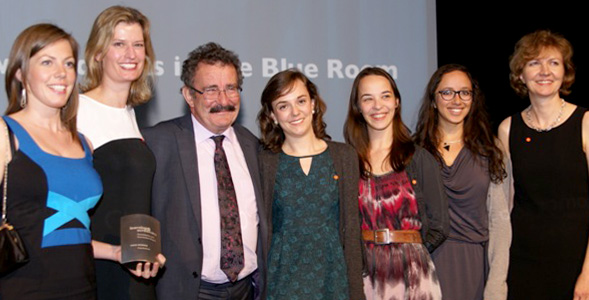 Members of the Twig team with Professor Lord Robert Winston